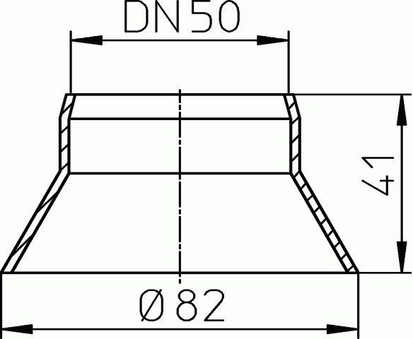 HL805.1 Párakivezető gallér DN50