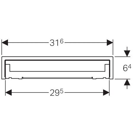 Geberit takarólap készlet zuhany szerelőelemhez / 31,6(29,5)x6,4 cm, burkolható, több csemperéteghez / 154.339.00.1 / 154339001