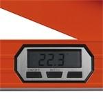 EXTOL PREMIUM vízmérték digitális szögmérővel, 380mm, :1,0mm/1m (=0,057°, vízszint)  ill. 9mm/1m(=0,5°, szögmérő), CE, GS / 8823500 / (MB)