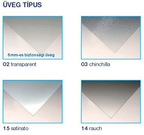 Roltechnik ECR2/800 íves zuhanykabin / 80x185 cm / brillant profillal / transparent üveggel