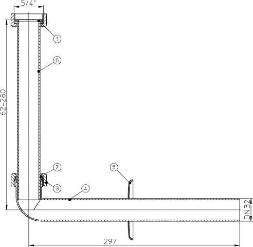 HL134.1K Csatlakozókészlet fehér műanyagból