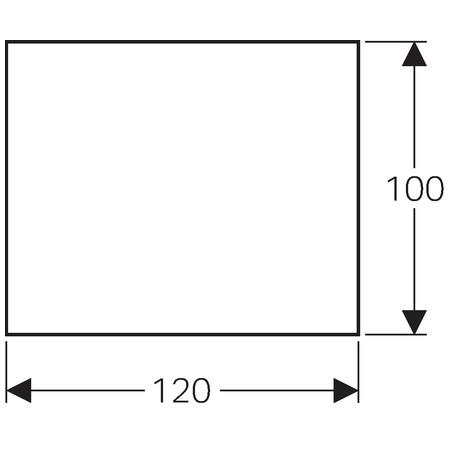 Geberit L-profilú lejtésképző lemez, falsík alatti lefolyóval szerelt épített zuhanyhoz, 100x120 cm / 154.265.00.1 / 154265001