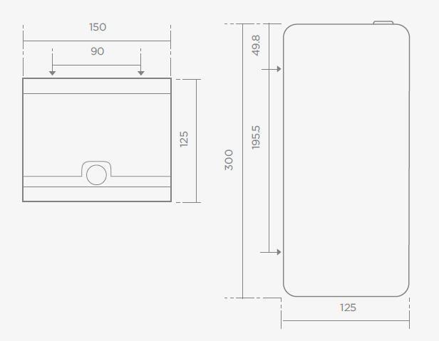 TEKA IC405 rozsdamentes acél dupla wc-papír tartó 76.405.02.00 / 764050200