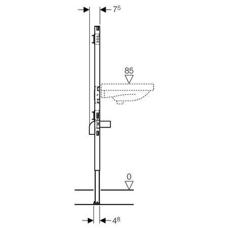 Geberit Duofix mosdó szerelőelem fali csapteleppel szerelt fali mosdó részére / 111.437.00.1 / 111437001