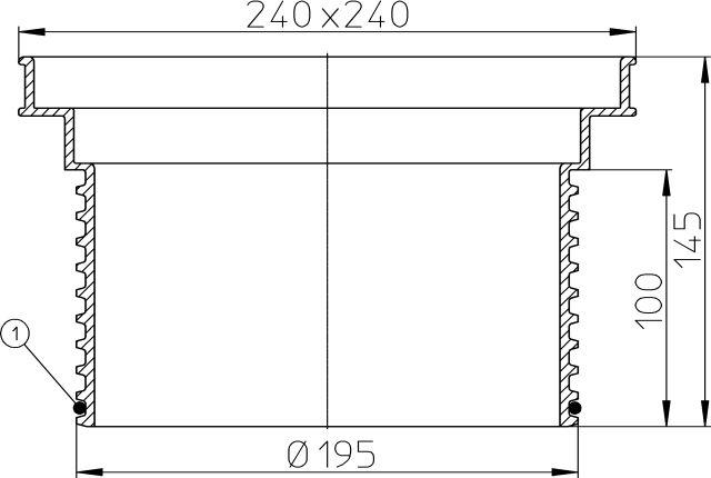 HL608 Magasító elem d 195mm/244x244
