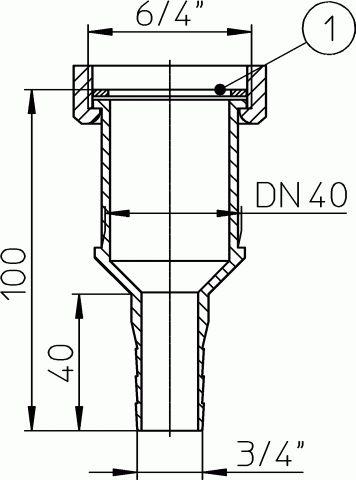 HL17 Uni-átmanati idom 6/4'xDN40x3/4'