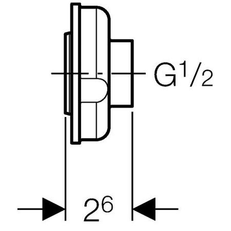 "Geberit adapter vizelde elemhez d32-1/2"" / 242.309.00.1 / 242309001"