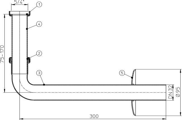 HL134.1C Csatlakozókészlet krómozott sárgarézből