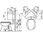Sanit 927 sarok / sarokba szerelhető wc tartály