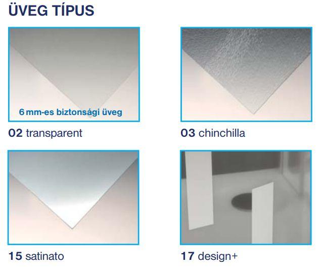 Roltechnik PXS2L+PXS2P szögletes zuhanykabin / 100x100x185 / brillant profillal / transparent üveggel