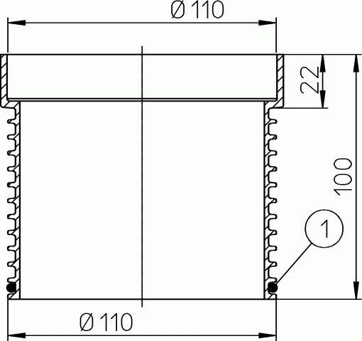 HL340N Magasító elemet 80mm/d 110mm
