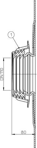 HL800/110 Csőáttörés szigetelő DN110
