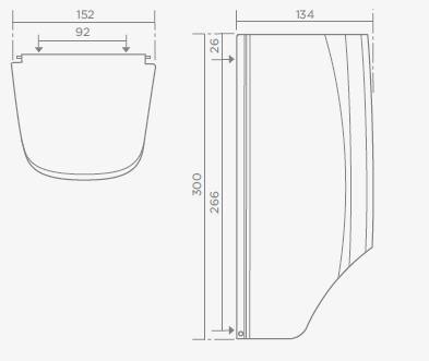 TEKA MX402 rozsdamentes acél dupla wc-papír tartó 76.402.02.00 / 764020200
