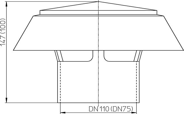 HL810.0 Párakivezető sapka DN100
