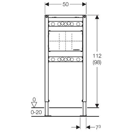 Geberit Duofix szerelőelem fürdőkádhoz/zuhanyzóhoz falsík alatti csaptelephez / 111.780.00.1 / 111780001