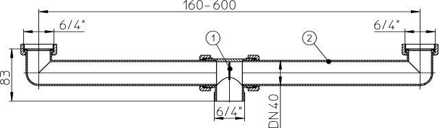 """HL22 Lefolyó csatlakozó DN40x6/4"""""""