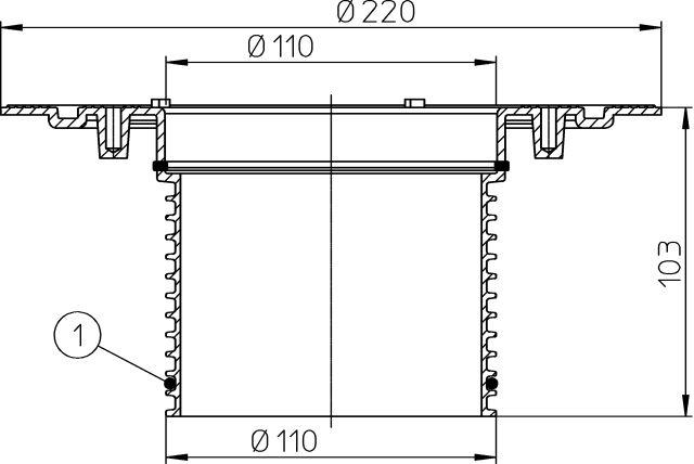 HL85N Magasító elem 80mm/d 110mm szigetelőgallérral
