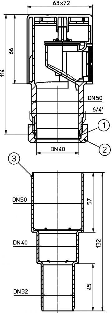 HL903 Légbeszívó szelep DN50
