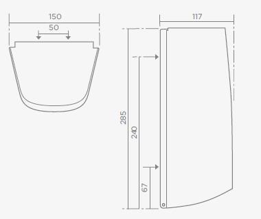 TEKA MX403 rozsdamentes acél kéztörlőpapír adagoló 76.403.02.00 / 764030200