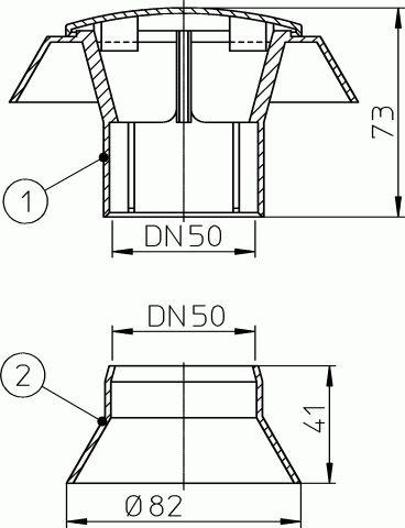 HL805 Párakivezető készlet DN50