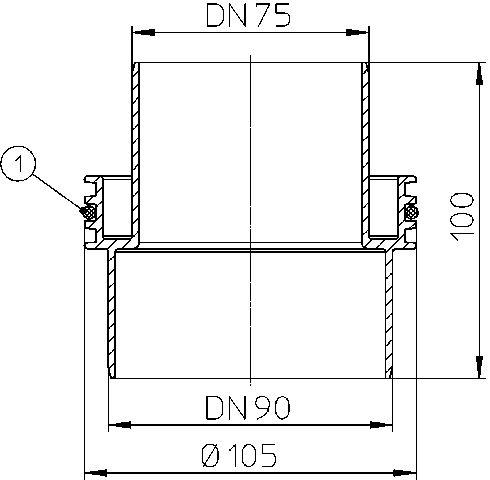 HL990 Szűkítő DN75/90