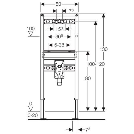 Geberit Duofix mosdó szerelőelem fali csapteleppel szerelt fali mosdó részére, falsík alatti szifonnal / 111.477.00.1 / 111477001