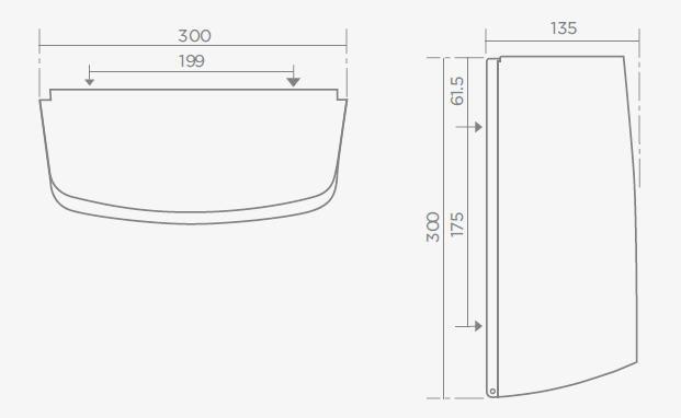 TEKA MX101 rozsdamentes acél papír adagoló 76.101.02.00 / 761010200