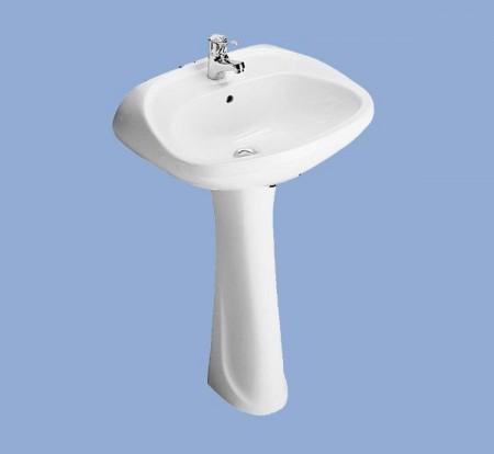 ALFÖLDI BÁZIS / 4163 01 01 / 57 x 47 cm-es fali mosdó, fehér színben / 41630101