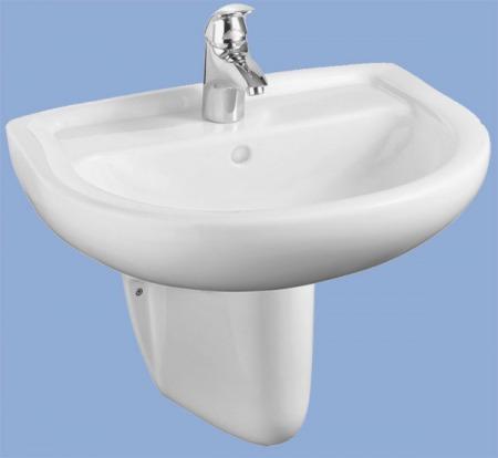 ALFÖLDI BÁZIS / 4191 60 01 / 60 x 49 cm-es fali mosdó / fehér színben / 41916001