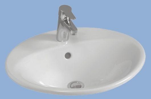 ALFÖLDI MELINA / 5555 59 R1 / 55 x 44 cm beépíthető mosdó Easyplus bevonattal