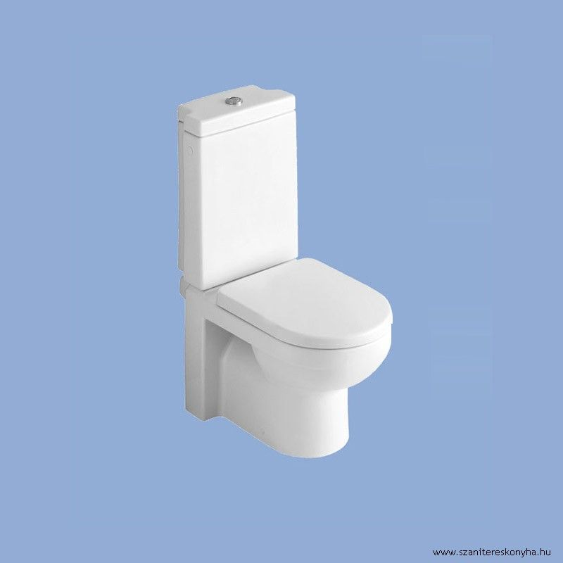 ALFÖLDI LINER  / 6639 L1 R1 / mélyöblítésű hátsó kifolyású / hátsós monoblokk wc csésze, EasyPlus bevonattal; tartály, ülőke külön rendelhető