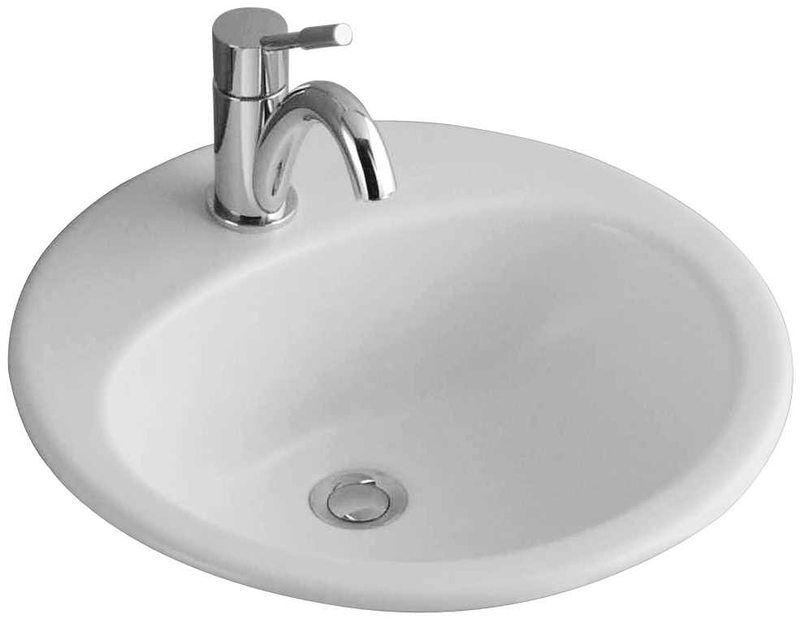 ALFÖLDI SAVAL 2.0 Beépíthető mosdó50 cm, Fehér, 1 furattal középen 7011 50 01 / 7011 5001 / 70115001