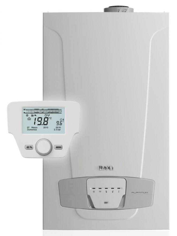 BAXI Luna Platinum 24+ ErP fali kondenzációs kombi kazán / gázkazán / Fűtés: 20 kW, HMV: 24 kW IPX5D BAX_LUNAPLATINUM24P