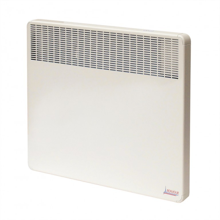 Thermor BONJOUR CEG2 Elektromos fali / falra szerelhető fűtőtest / konvektor / radiátor / fűtőpanel, 1500W / 1,5 kW, tartókonzollal, beépített termosztáttal, dugvillával, 649151