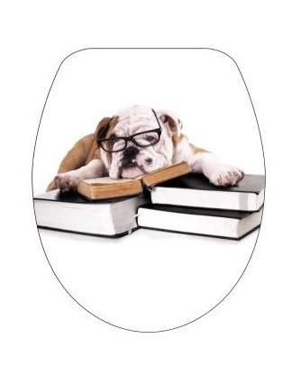DUROPLAST KUTYA / DOG antibakteriális WC ülőke, (színes, mintás, képes, fényképes) rozsdamentes zsanérral, 1 oldalon nyomtatott (tetőkülső)