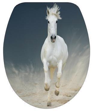 DUROPLAST LÓ / HORSE antibakteriális WC ülőke, (színes, mintás, képes, fényképes) rozsdamentes zsanérral, 3 oldalon nyomtatott (tetőkülső+tetőbelső+ülőrész)