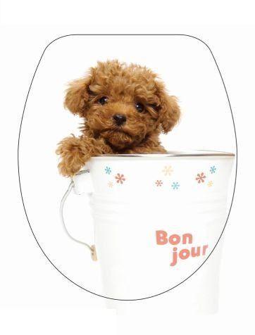 DUROPLAST KISKUTYA / PUPPY antibakteriális WC ülőke, (színes, mintás, képes, fényképes) rozsdamentes zsanérral, 1 oldalon nyomtatott (tetőkülső)