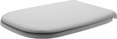 DURAVIT D-Code wc ülőke fém / rozsdamentes zsanérral, fehér, műanyag, lecsapódás elleni védelem / 6739 / 0067390000