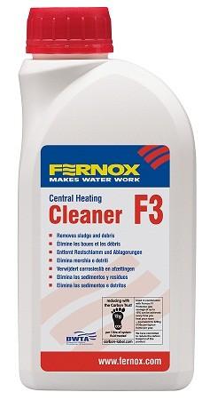 FERNOX Cleaner F3 tisztító folyadék / 500ml - tisztítószer 100 liter vízhez / 57762