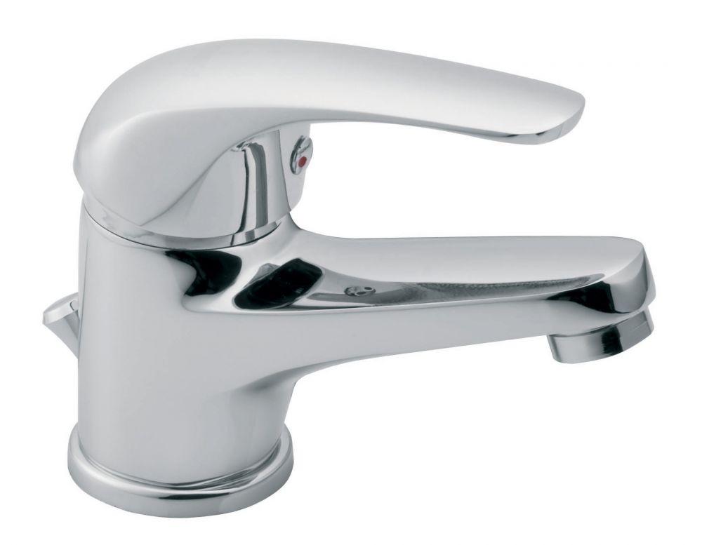 FERRO Vasto egykaros króm kerámiabetétes álló mosdó csaptelep, fém automata leeresztővel / BVA2