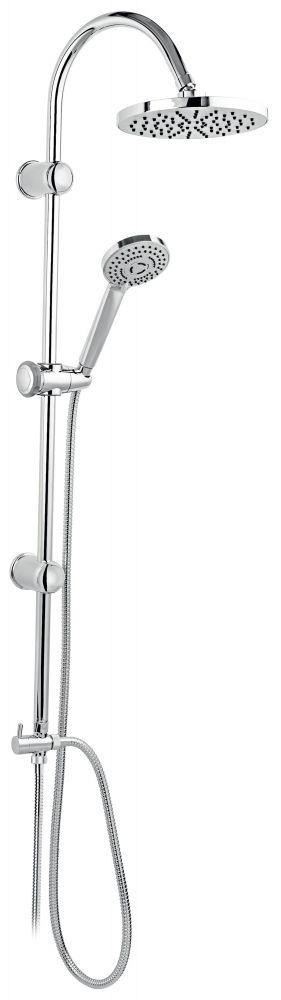 FERRO Rondo zuhanyszett fej- és kézi zuhannyal, könnyű vízkőtelenítés, króm / NP21