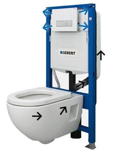Geberit Duofix Duofresh 111.370.00.5 wc szerelőelem / beépíthető wc tartály szagelszívó lehetőséggel / szagelszívással, gipszkartonos szereléshez