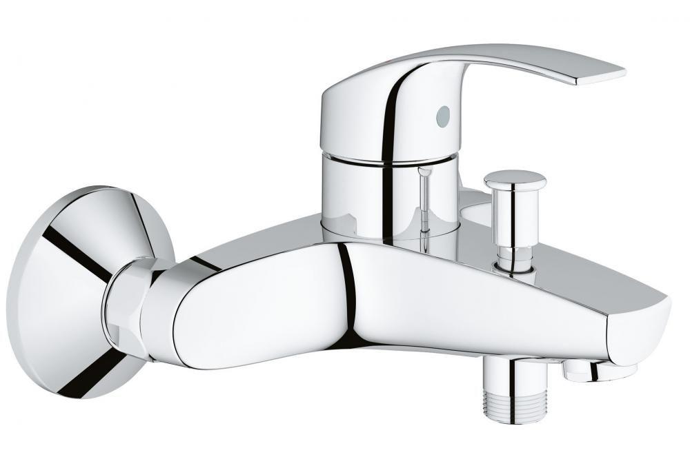 Grohe Eurosmart egykaros kád / zuhany csaptelep, automata zuhanyváltóval, szett nélkül, króm, 33 300 00 2A / 33300002 A + AJÁNDÉK GROHclean tisztítószerrel