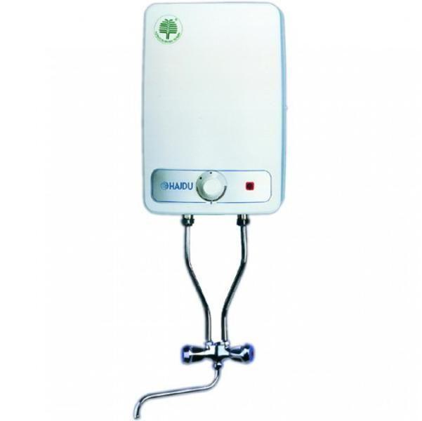 HAJDU FT-10 villanybojler / elektromos vízmelegítő, felső elhelyezésű, szabadkifolyású, 10 l-es