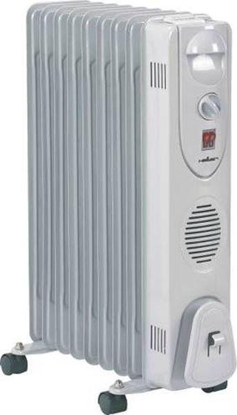 Heller HRO 2009 olajradiátor, 2000W-os 9 tagú, 3 fűtési fokozat, hőfokszabályzó termosztáttal, gurulós