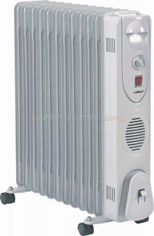 Heller HRO 2512 olajradiátor, 2500W-os 12 tagú, 3 fűtési fokozat, hőfokszabályozóval, gurulós / kerekes