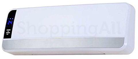 Heller KPF2001B fali / falra szerelhető kerámiabetétes, ventilátoros hősugárzó, design, magasfényű fehér + ezüst kivitel, 1000/2000W-os, távirányítóval, LCD kijelzővel