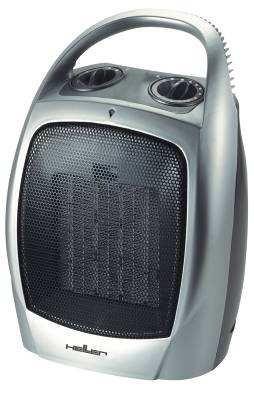 Heller PTF 501 Kerámiabetétes hősugárzó ventillátorral, 2 fűtési fokozat (750/1500W) grafitszürke