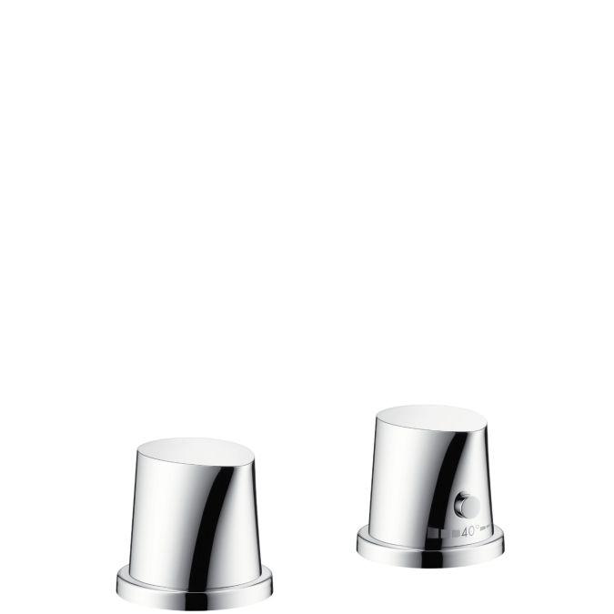 HansGrohe AXOR Starck Organic 2-lyukú kádperemre szerelhető termosztátos kádcsaptelep színkészlet / króm / 12422000 / 12422 000