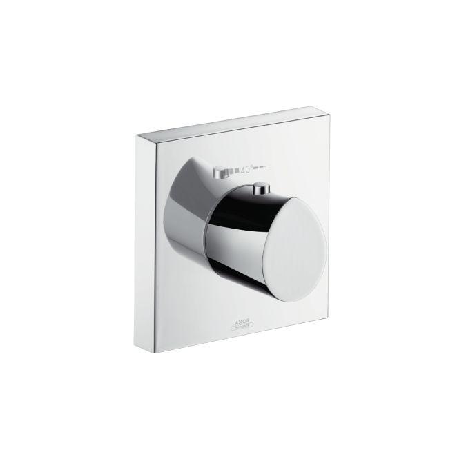 HansGrohe AXOR Starck Organic Highflow termosztátos csaptelep színkészlet / falsík alatti szereléshez 12 x 12 / króm / DN15 / 12712000 / 12712 000